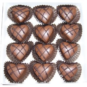 Fancy Milk Chocolate Marzipan Hearts
