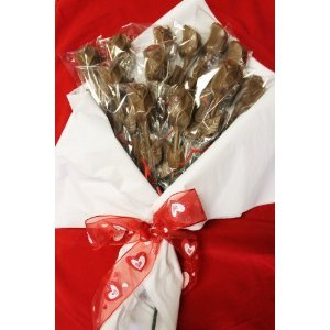 Chocolate Long Stem Roses Valentines