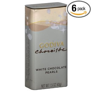 Godiva White Chocolate Pearls 1 5 Ounces