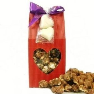 Valentines Chocolate Covered Popcorn Gift