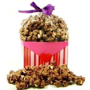 Valentines Chocolate Covered Popcorn Heart