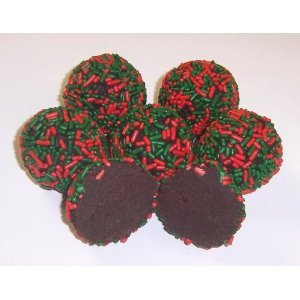 Scotts Cakes Chocolate Christmas Ribbon N Holly