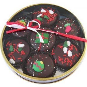 Christmas Decorated Chocolate Cookie Oreos